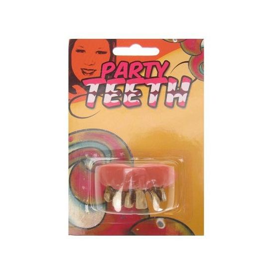 Voordeligekostuums Gouden nep gebit rotte tanden